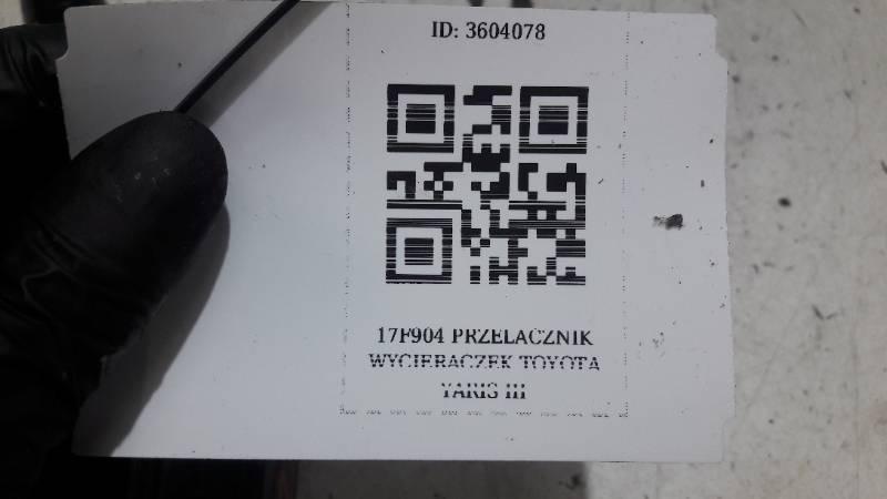 17F904 PRZELACZNIK WYCIERACZEK TOYOTA YARIS