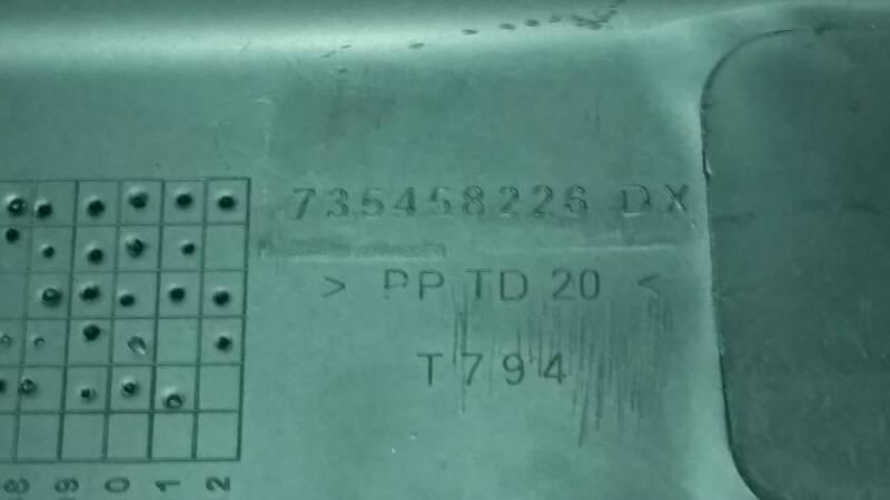 735458226 LISTWA DRZWI PRAWY TYL FIAT DOBLO II