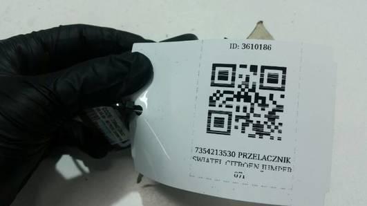 7354213530 PRZELACZNIK SWIATEL CITROEN JUMPER 07r