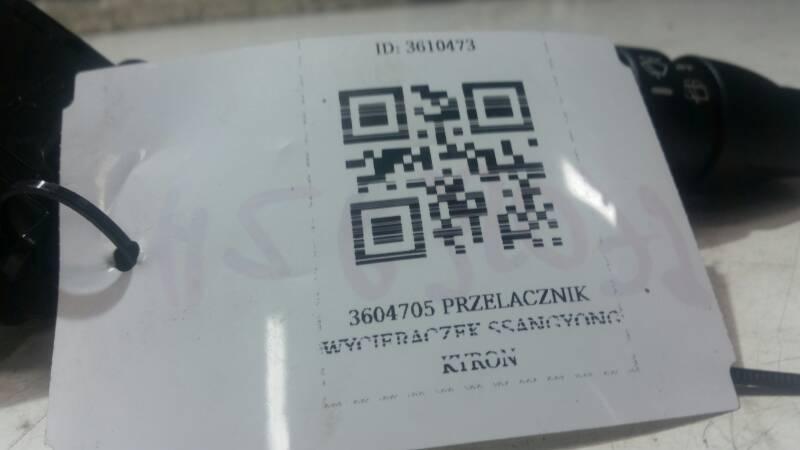 3604705 PRZELACZNIK WYCIERACZEK SSANGYONG KYRON