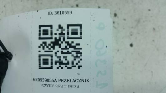 6K0959855A PRZEŁACZNIK SZYBY SEAT IBIZA