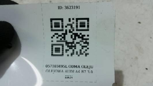 057103495L ODMA OLEJU OLEJOWA AUDI A4 B7 3.0 BKN