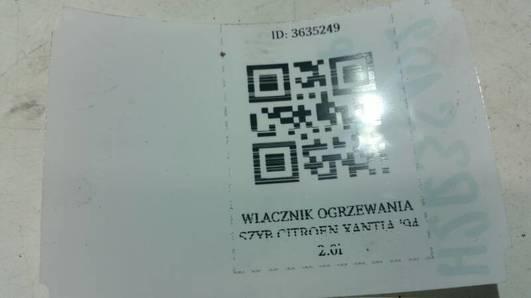 WLACZNIK OGRZEWANIA SZYB CITROEN XANTIA '94 2.0i