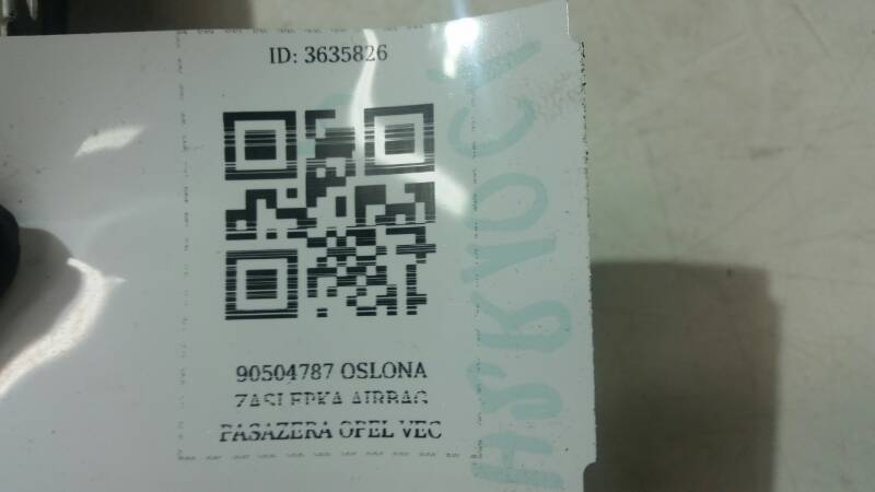 90504787  ZASLEPKA AIRBAG PASAZERA  OPEL VECTRA B