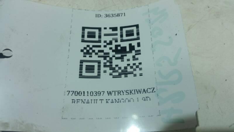 7700110397 WTRYSKIWACZ RENAULT KANGOO 1.9D N