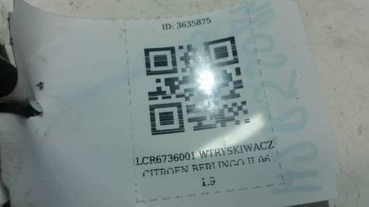 LCR6736001 WTRYSKIWACZ CITROEN BERLINGO II 06 1.9