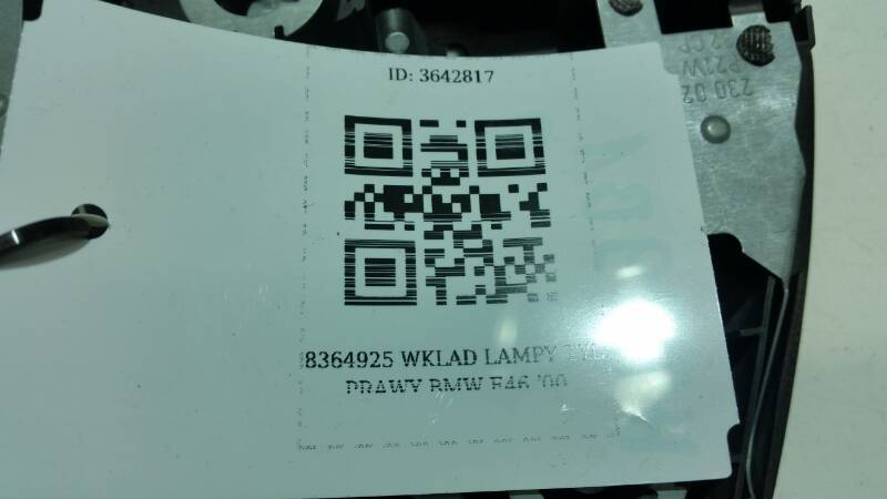 8364925 WKLAD LAMPY LEWY BMW E46 '00