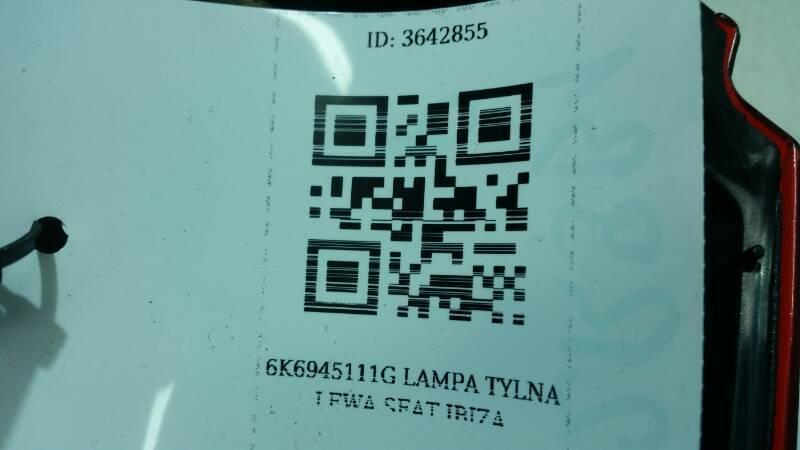 6K6945095J LAMPA TYLNA LEWA SEAT IBIZA