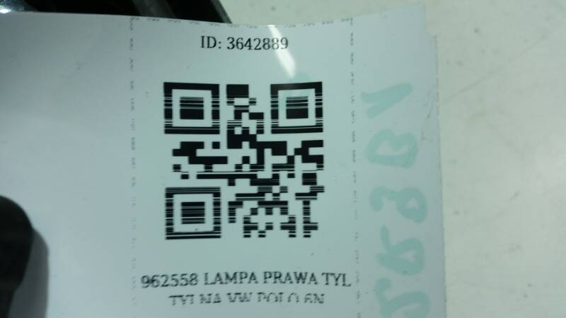962558 LAMPA PRAWA TYL TYLNA VW POLO 6N