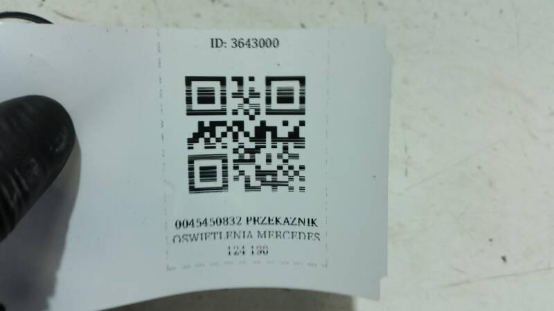 0045450832 PRZEKAZNIK OSWIETLENIA MERCEDES 124 190
