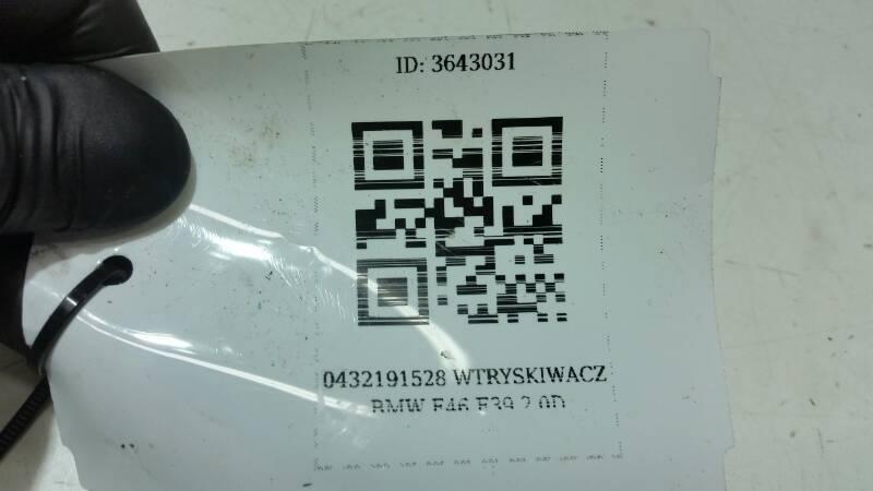 0432191528 WTRYSKIWACZ BMW E46 E39 2.0D