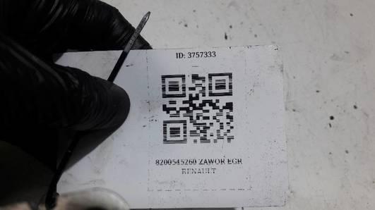 8200545260 ZAWOR EGR RENAULT CLIO II 1.5DCi