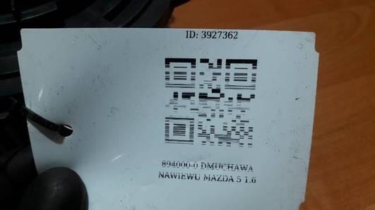 894000-0270 DMUCHAWA NAWIEWU MAZDA 5 1.6