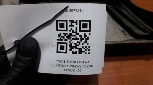 75601-50020 LISTWA BLOTNIKA PRAWY PRZOD LEXUS 400