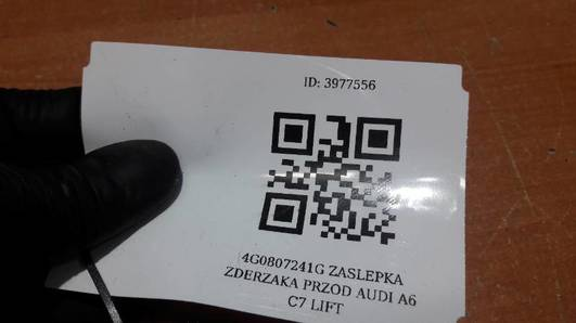 4G0807241G ZASLEPKA ZDERZAKA PRZOD AUDI A6 C7 LIFT