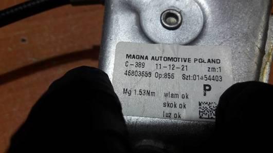 46803653 MECHANIZM SZYBY PRAWY TYL FIAT PANDA II