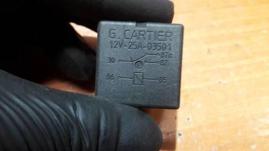 12V/25A-03501 PRZEKAZNIK CARTIER RENULT