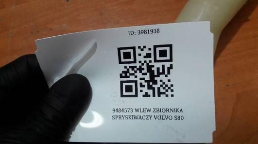 9484573 WLEW ZBIORNIKA SPRYSKIWACZY VOLVO S80