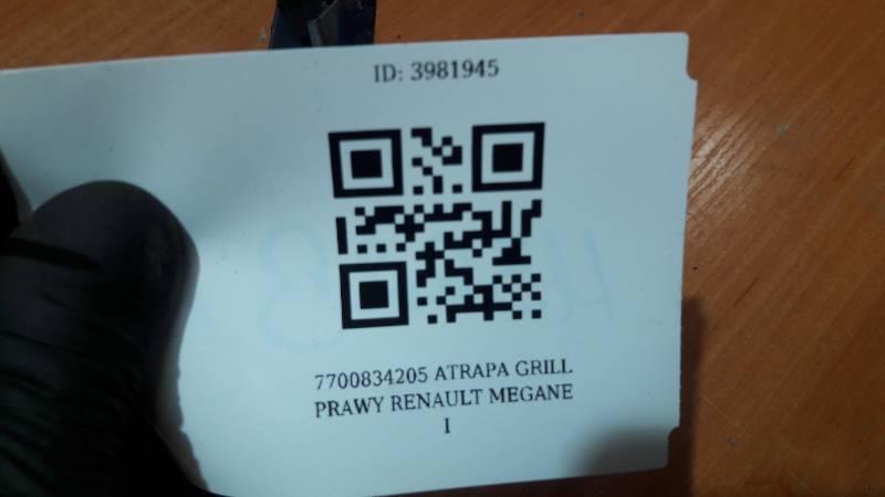 7700834205 ATRAPA GRILL PRAWY RENAULT MEGANE I