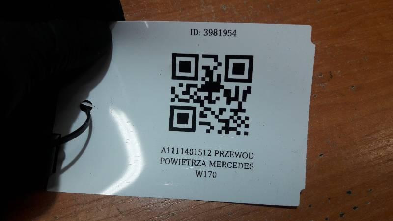 A1111401512 PRZEWOD POWIETRZA MERCEDES W170