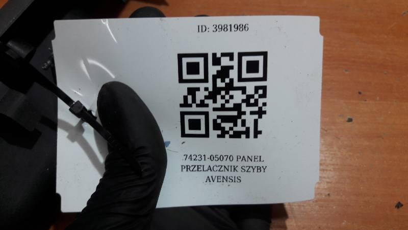 74231-05070 PANEL PRZELACZNIK SZYBY AVENSIS