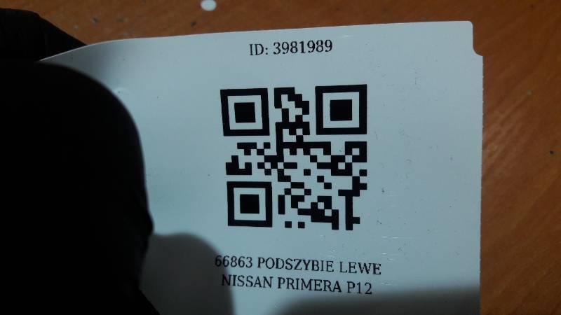 66863BU200 PODSZYBIE LEWE NISSAN PRIMERA P12