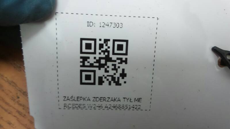 A2468851422 ZASLEPKA ZDERZAKA TYL MERCEDES W246