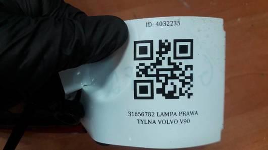 31656782 LAMPA PRAWA TYLNA VOLVO V90