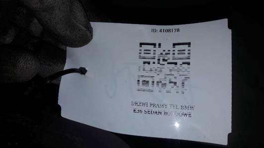 DRZWI PRAWY TYL BMW E36 SEDAN BORDOWE