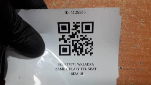 6K6827571 WKLADKA ZAMEK KLAPY TYL SEAT IBIZA III