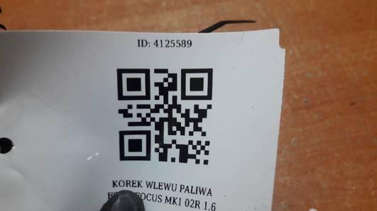 KOREK WLEWU PALIWA FORD FOCUS MK1 02R 1.6