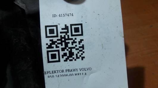 142006-00 REFLEKTOR PRAWY VOLVO 850  HELLA EUROPA