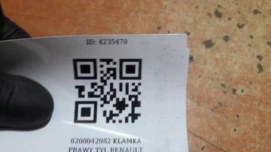 8200042082 KLAMKA PRAWY TYL RENAULT KANGOO 01R