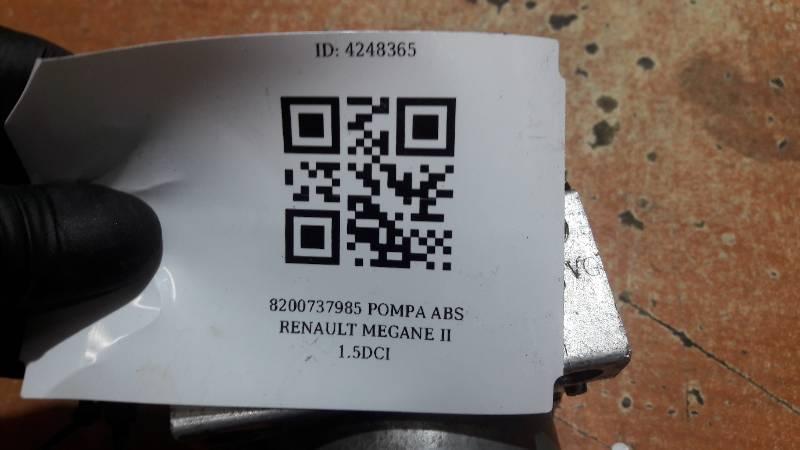 8200737985 POMPA ABS RENAULT MEGANE II 1.5DCI