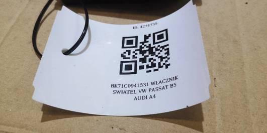 BK71C0941531 WLACZNIK SWIATEL VW PASSAT B5 AUDI A4