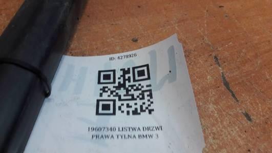 19607340 LISTWA DRZWI PRAWA TYL BMW E36