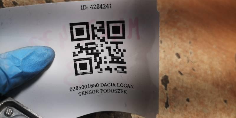 0285001650 DACIA LOGAN SENSOR PODUSZEK