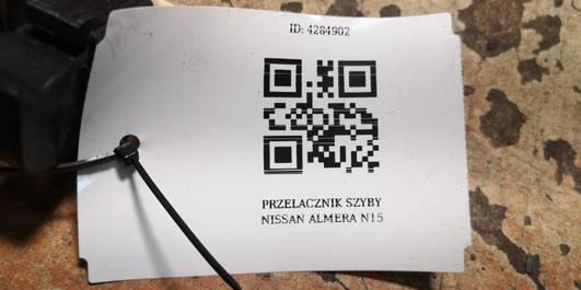 PRZELACZNIK SZYBY NISSAN ALMERA N15