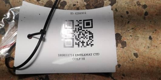 1H0853714 EMBLEMAT GTD GOLF III