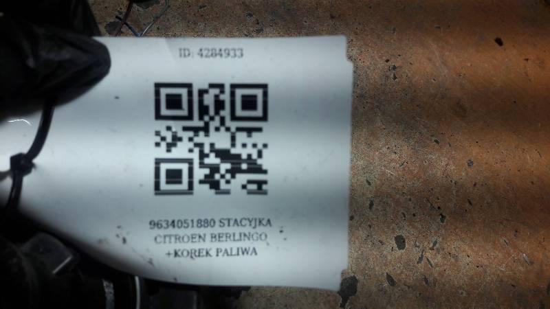 9634051880 STACYJKA CITROEN BERLINGO +KOREK PALIWA