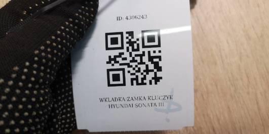 WKLADKA ZAMKA KLUCZYK HYUNDAI SONATA III