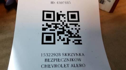 15322928 SKRZYNKA BEZPIECZNIKOW CHEVROLET ALERO