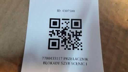 7700433117 PRZELACZNIK BLOKADY SZYB SCENIC I