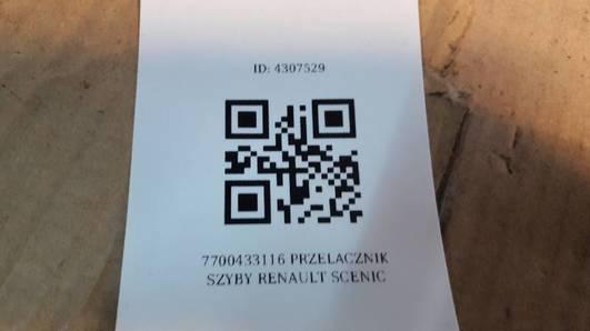 7700433116 PRZELACZNIK SZYBY RENAULT SCENIC
