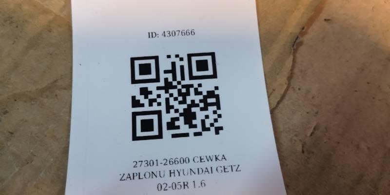 27301-26600 CEWKA ZAPLONU HYUNDAI GETZ 02-05R 1.6