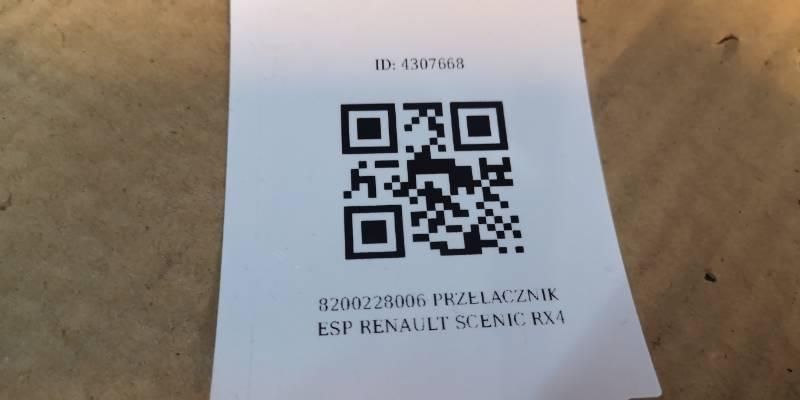 8200228006 PRZELACZNIK ESP RENAULT SCENIC RX4