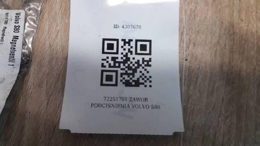 72251701 ZAWOR PODCISNIENIA VOLVO S80