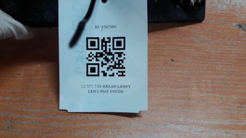 12.571.758 WKLAD LAMPY LEWY FIAT PANDA
