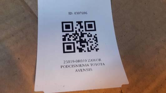 25819-0R010 ZAWOR PODCISNIENIA TOYOTA AVENSIS