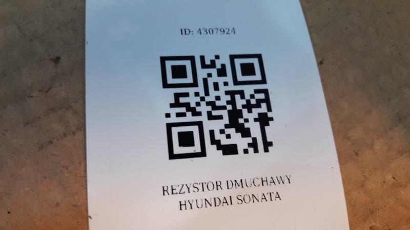 REZYSTOR DMUCHAWY HYUNDAI SONATA
